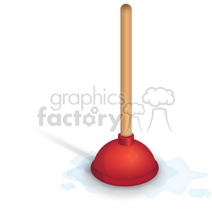 red plunger clipart. Royalty-free image # 384106