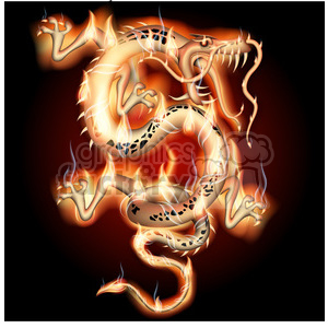 Flaming Dragon clipart. Commercial use image # 384121