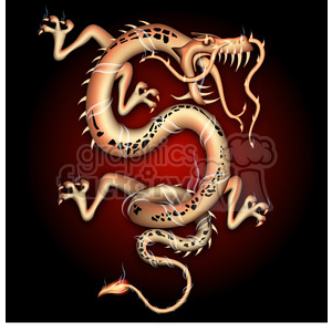 realistic RG vector clipart dragon Chinese 2012