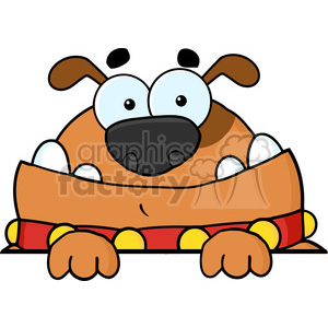 cartoon-dog-character clipart. Royalty-free image # 384176