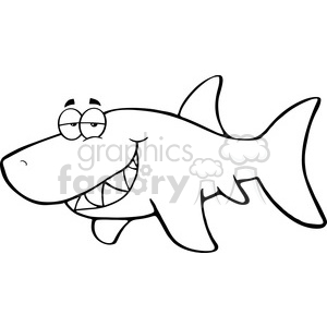 black-white-greatwhite-shark clipart. Commercial use image # 384181