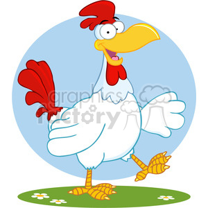 white-chicken clipart. Commercial use image # 384191