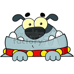 blue-cartoon-dog clipart. Commercial use image # 384196