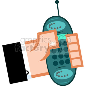 mobile clipart. Commercial use image # 384206