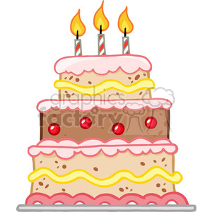 cartoon-cake clipart. Royalty-free image # 384211
