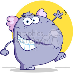 elephant-character clipart. Royalty-free image # 384216