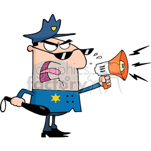 cop-with-loud-speaker clipart. Royalty-free image # 384261