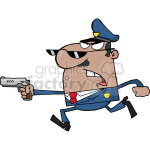 cartoon-cop clipart. Royalty-free image # 384314