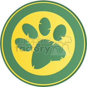 paw-print clipart. Commercial use image # 384319