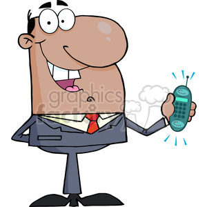 cartoon-salesman clipart. Royalty-free image # 384369