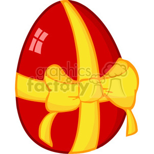 Royalty-Free-RF-Copyright-Safe-Red-Easter-Egg-With-Ribbon