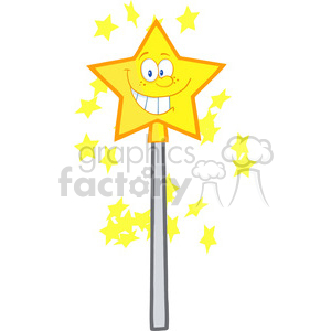 4692-Royalty-Free-RF-Copyright-Safe-Wizard-Magic-Wand-Cartoon-Character clipart. Royalty-free image # 384384