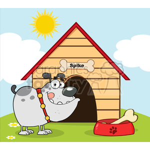 cartoon funny silly drawing draw illustration comical comics dog house dog bone