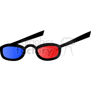 Royalty-Free-RF-Copyright-Safe-Eyeglasses-With-Blue-And-Red-Lens-For-3d-Movies clipart. Royalty-free image # 384449