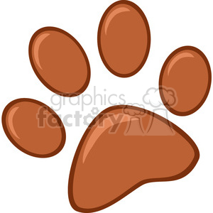 Royalty-Free-RF-Copyright-Safe-Brown-Paw-Print clipart. Commercial use image # 384474