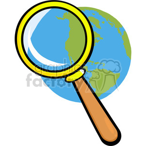Royalty-Free-RF-Copyright-Safe-Earth-Under-Magnifying-Glass clipart. Royalty-free image # 384519