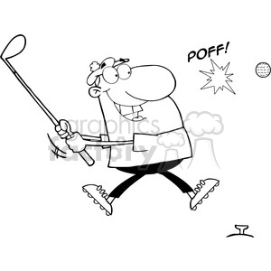 Royalty-Free-RF-Copyright-Safe-Male-Golfer-Hitting-Golf-Ball clipart. Commercial use image # 384539