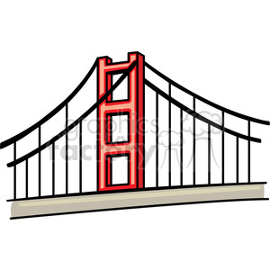 Golden Gate Bridge clipart. Royalty-free image # 148201