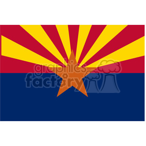 vector state Flag of Arizona clipart. Commercial use image # 384553