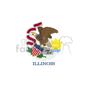 vector state Flag of Illinois clipart. Commercial use image # 384558