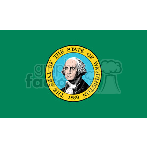 vector state Flag of Washington 1889 clipart. Commercial use image # 384563