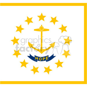vector state Flag of Rhode Island clipart. Commercial use image # 384578
