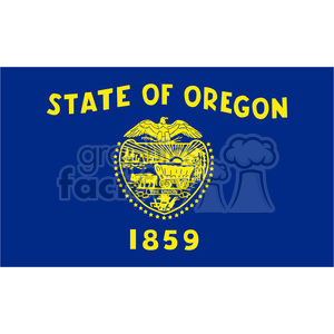 vector state Flag of Oregon clipart. Royalty-free image # 384588