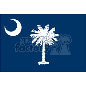 vector state Flag of South Carolina clipart. Royalty-free image # 384593