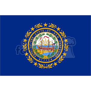 vector state Flag of New Hampshire clipart. Royalty-free image # 384598