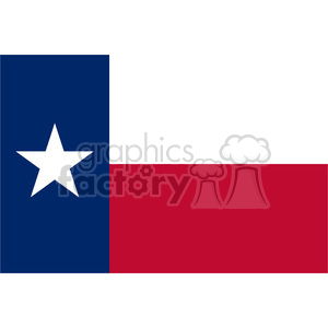 vector state Flag of Texas