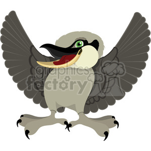 Australian Kookaburra bird clipart. Commercial use image # 384608