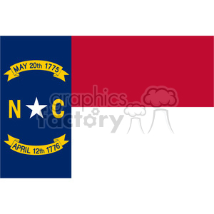 vector state Flag of North Carolina clipart. Royalty-free image # 384613