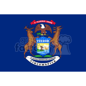 vector state Flag of Michigan clipart. Commercial use image # 384618