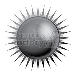 black sun vector clipart. Royalty-free image # 384623