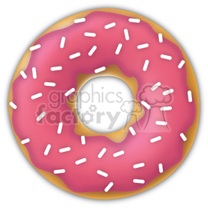 sprinkled pink doughnut clipart. Royalty-free image # 384648