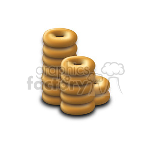 stack of doughnuts clipart. Royalty-free image # 384663