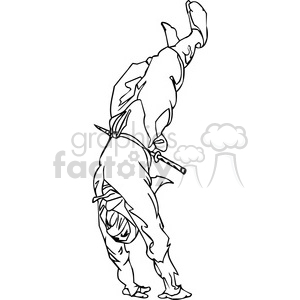 white ninja clip-art 003 animation. Royalty-free animation # 384668