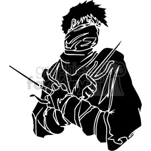 ninja clipart 044 clipart. Royalty-free image # 384678