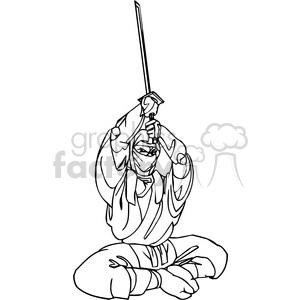 white ninja clip-art 006 clipart. Royalty-free image # 384703