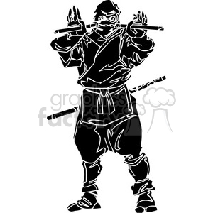 ninja clipart 046