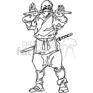 White Ninja Clip Art 002 Clipart Royalty Free Clipart
