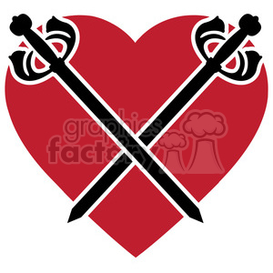 sword and heart 005 clipart. Commercial use image # 384842