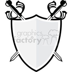 vector swords and shield clipart. Royalty-free image # 384852