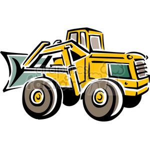 front end loader clipart. Commercial use image # 384904