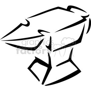 black and white anvil outline clipart. Royalty-free image # 384954