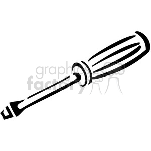 black and white screwdriver clipart. Royalty-free image # 384974