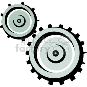 cartoon gears clipart. Royalty-free image # 384984