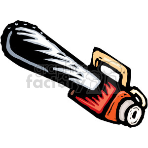 cartoon chainsaw animation. Royalty-free animation # 385014