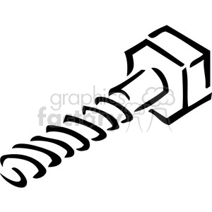 black and white screw outline clipart. Commercial use image # 385024
