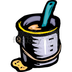 gallon of paint clipart. Royalty-free image # 385034
